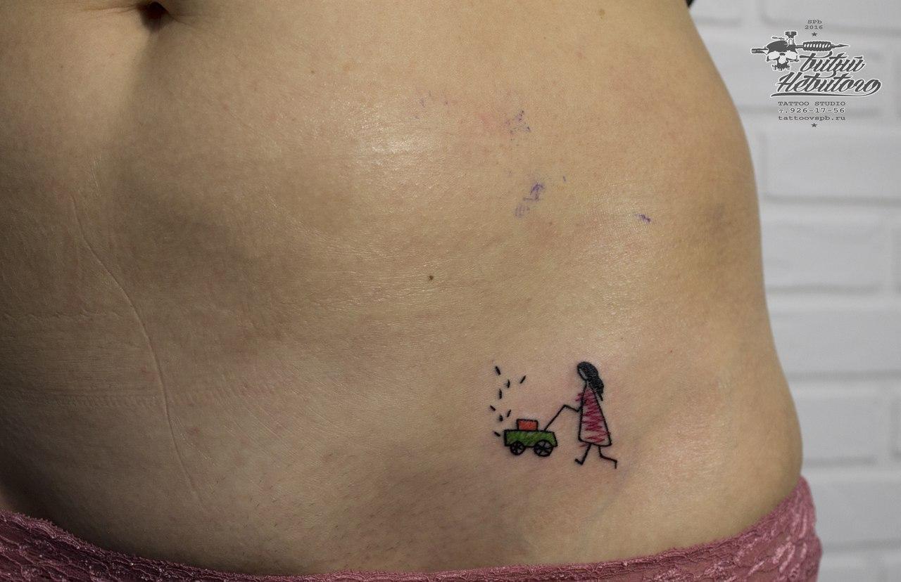 Татуировки в интимных местах у женщин фото