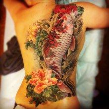 японские тату на лобке