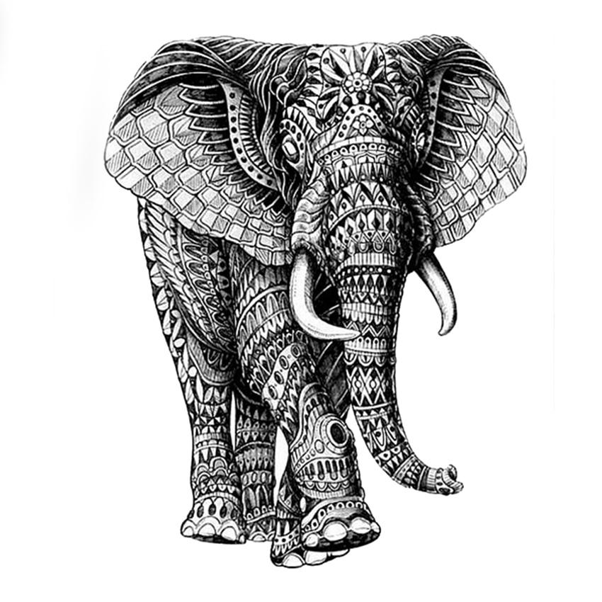 красивый картинки индийского слона тату именно общение